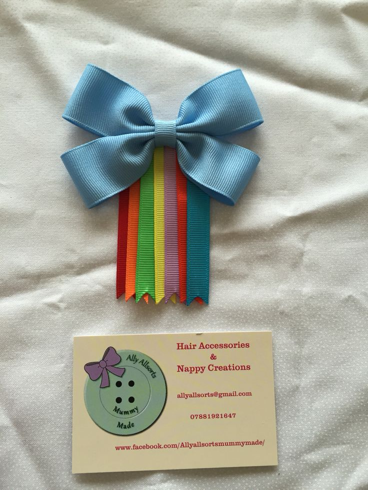 Rainbow dash inspired hair bow from my little pony designed by me