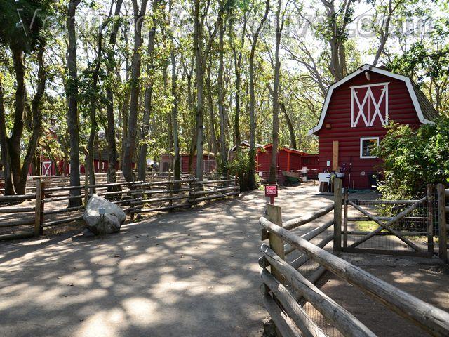 The Beacon Hill Children's Farm Barn in Beacon Hill Park, Victoria, British Columbia.