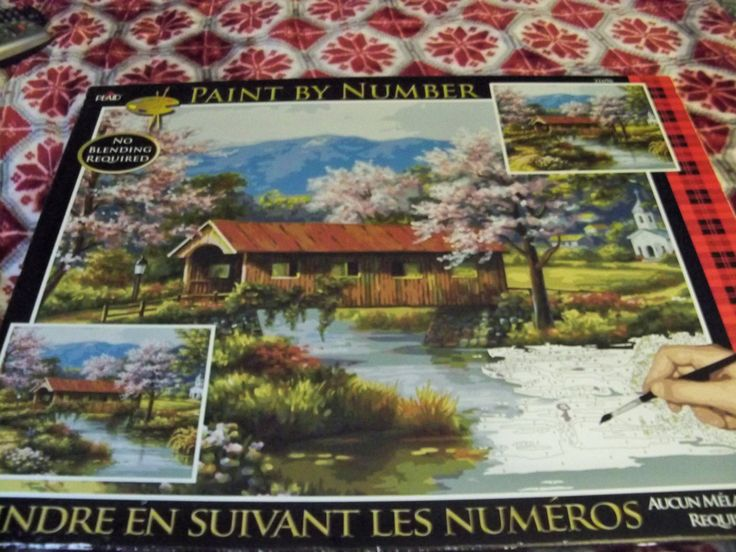 Paint by Number Kit, Not Used Paint Kit. Large Plaid Paint Kit, Pont Couvert, 21696 by VintageJB on Etsy
