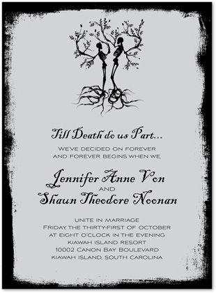 Halloween Wedding Invitations, Till Death Do Us Part, 26573