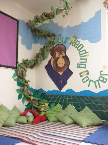 Beanstalk Reading Corner classroom display photo - Photo gallery - SparkleBox