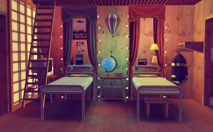 Cool room design by thenewshoes in the Sims 3