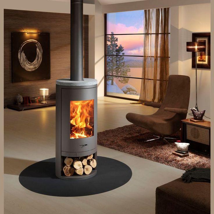 poele a bois scandinave + double fonctionnement cheminée + poêle ...
