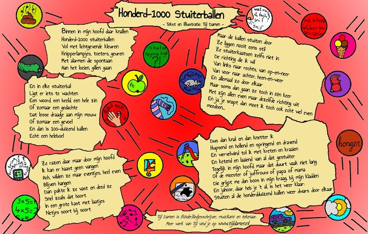 'Honderd-1000 Stuiterballen'  Een gedicht van Tijl Damen over ADHD.