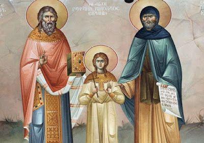 Περιβόλι της Παναγιάς: Θαύμα των Αγίων Ραφαήλ, Νικολάου και Ειρήνης: «Πέθ...