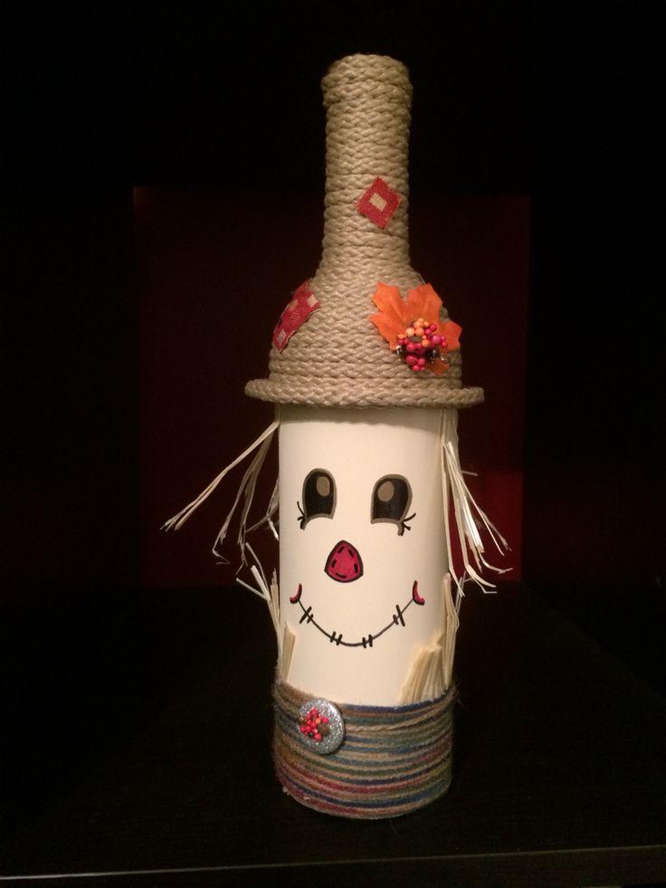 Scarecrow wine bottle