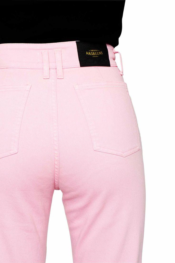 Swedish Hasbeens HasJeans Flare Jeans Light Pink