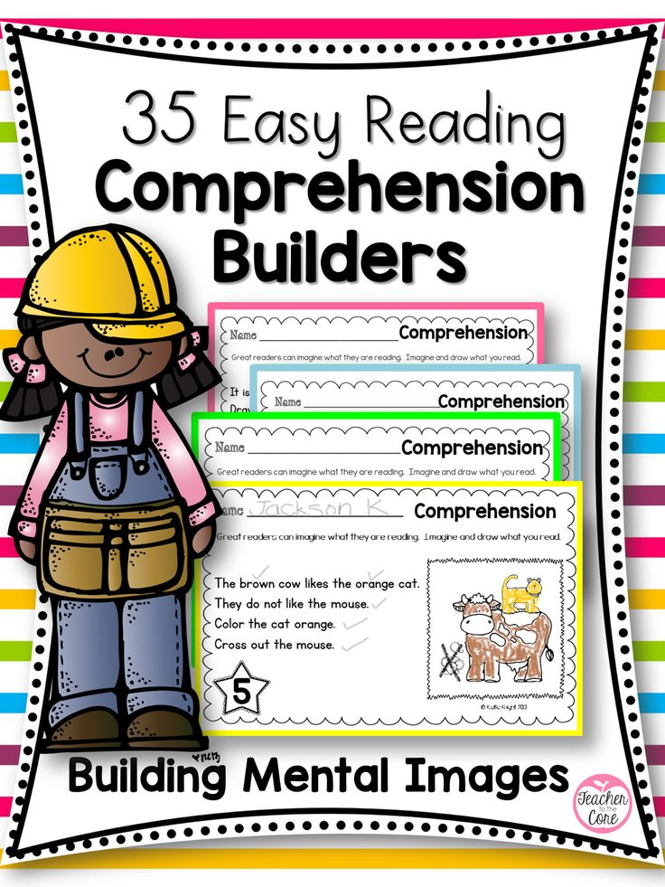 "The 35 comprehension builders start with simple sentence reading and grow gradually over a 2 month period of time. Each activity asks students to add details to a picture. Thus, they are ""creating"" and building mental images and deepening their comprehension skills."