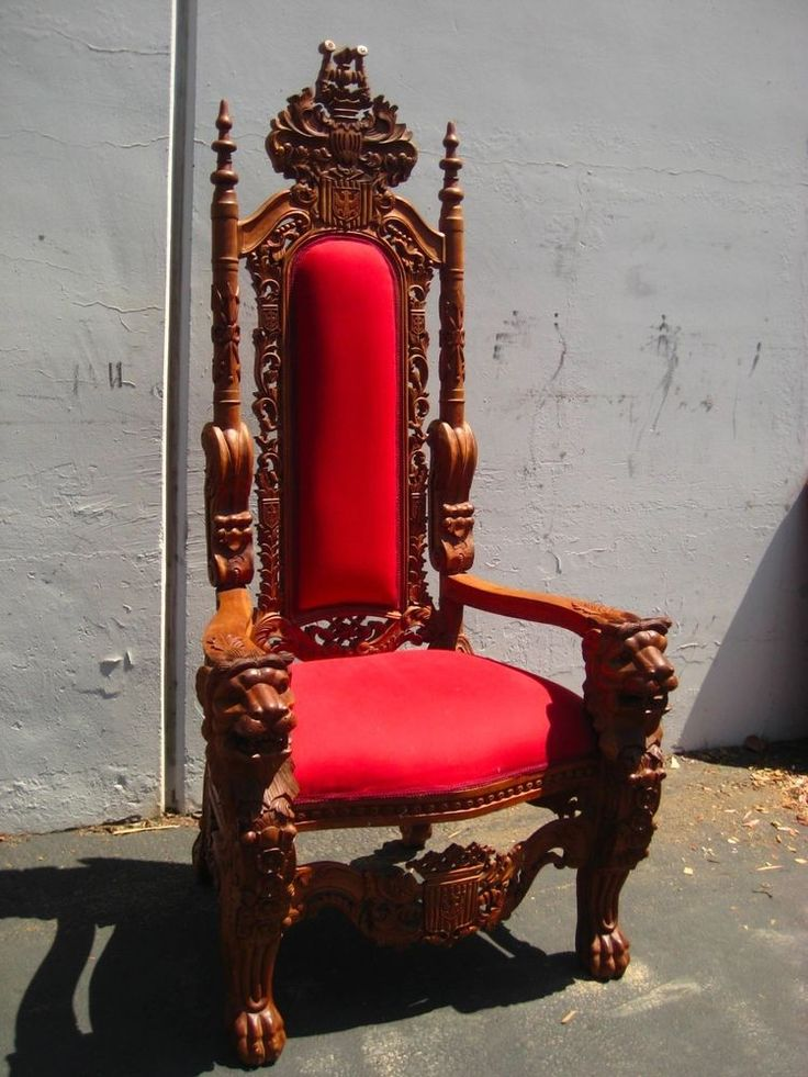 Hand Carved Antique Mahogany King S Throne Chair Game Of