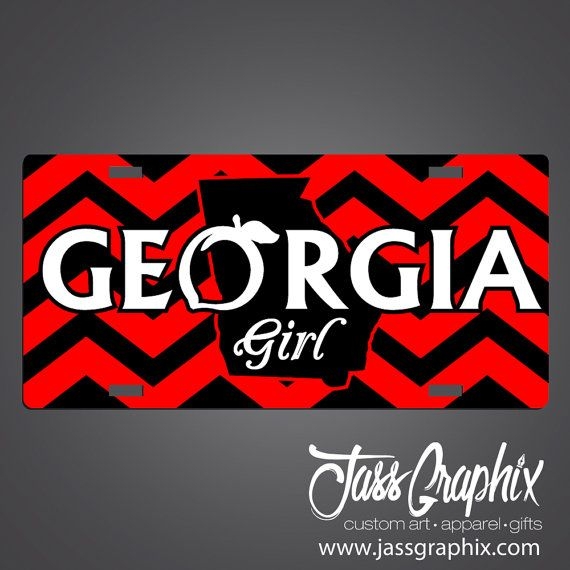 Hey, I found this really awesome Etsy listing at https://www.etsy.com/listing/210273242/georgia-girl-license-plates-and-car-tags