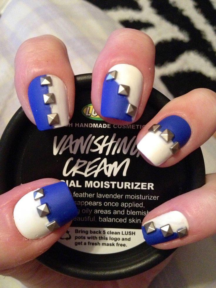 studded nail art...so cute!