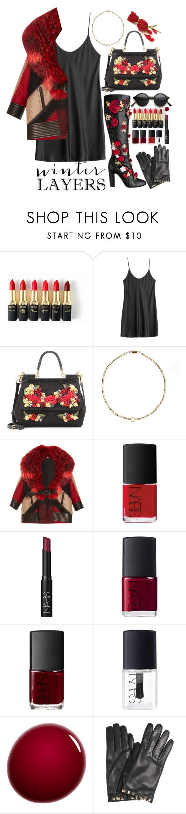 """In Repair ★★ John Mayer"" by devil-in-a-new-dress ❤ liked on Polyvore featuring L'Oréal Paris, La Perla, Dolce&Gabbana, Alice Menter, J. Mendel, NARS Cosmetics, Valentino, women's clothing, women and female"