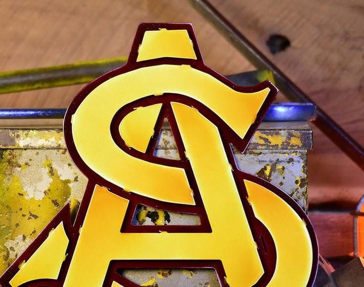 Arizona state university logo 3d metal artwork close out