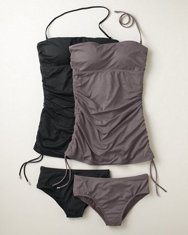 Calvin Klein Bandeau Tankini ~ I need more one-pieces and tankinis now that I have kids. It's more appropriate.