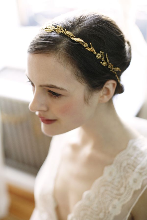 I think this gold head piece is my favorite. It's the most classic. I would love to attach a veil to this.