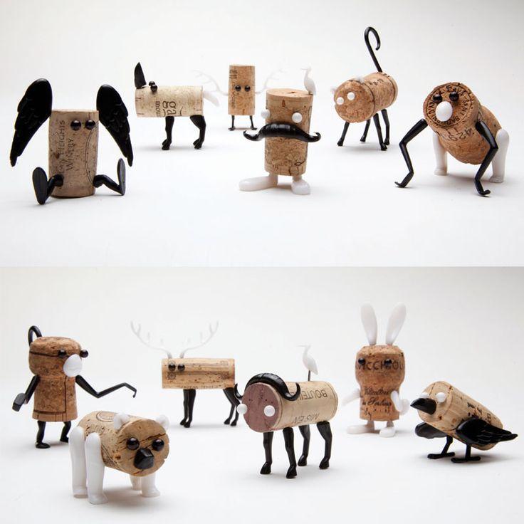 Aus Korken Tiere basteln