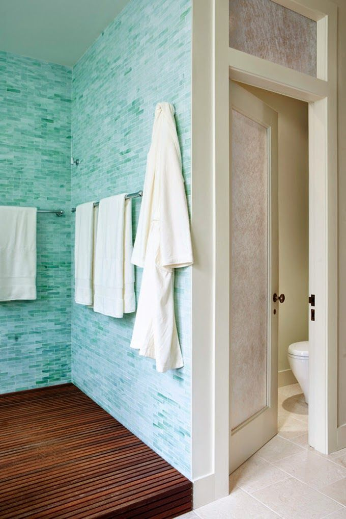 House Of Turquoise: Turquoise Spa Inspired Bathroom
