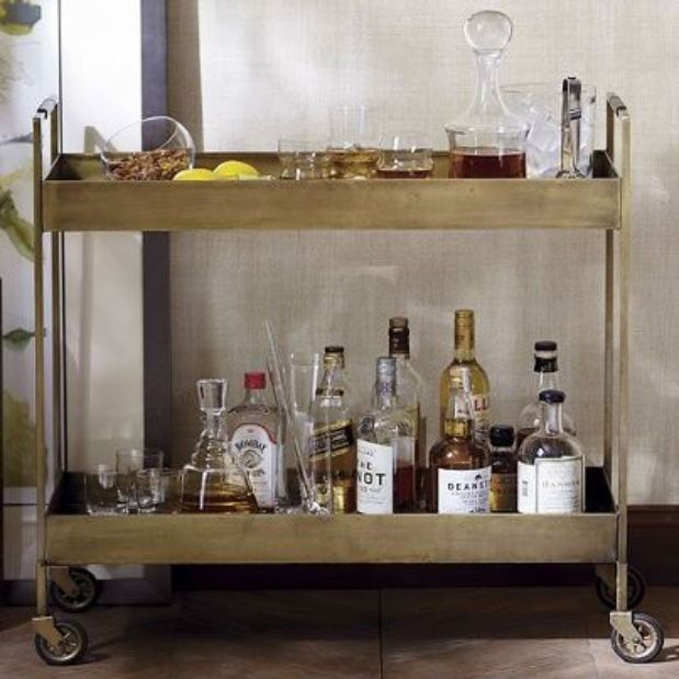 The Crate Barrel Libations Bar Cart Makes Your Portable In Cly Style So You Can Keep Up With Party