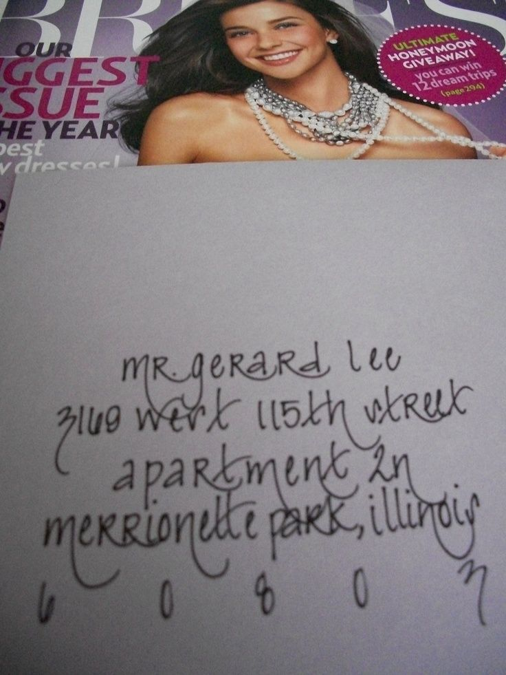 Cute envelope addressing