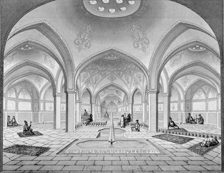 * Bathhouse Kashan * (by Pascal Coste).