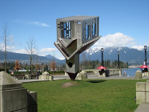 Dennis Oppenheim's sculpture, Device to Root out Evil, has a new home in Calgary as of September 5, 2008 #unusualcanada #calgary #alberta