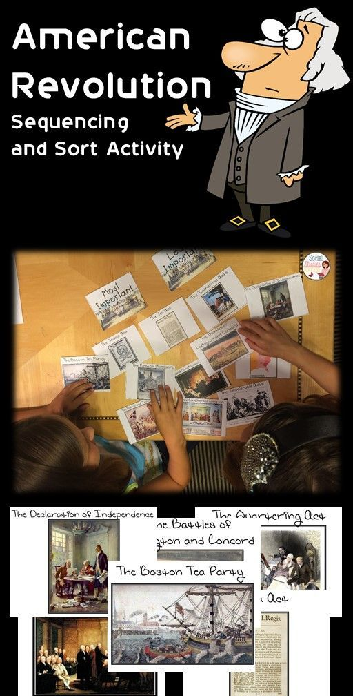 Review for the American Revolution with this sequencing and sort activity. Students sort cards according to a timeline and the on a spectrum from most to least important.