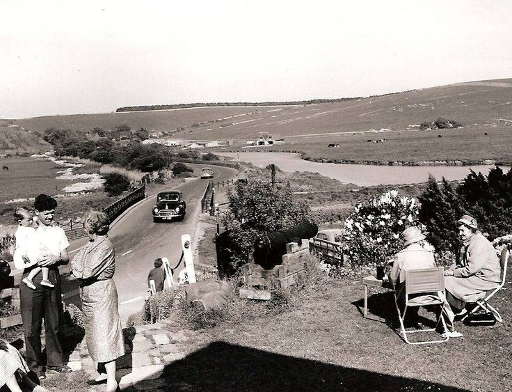 Exeat Bridge looking down from the restaurant 1950's ( Picture by courtesy of Seaford Museum )