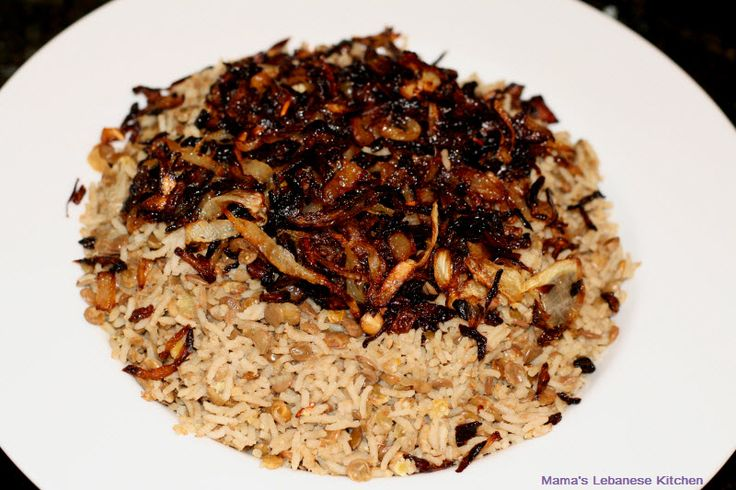 """Mudardara"" is a traditional vegetarian Lebanese dish made with lentils and rice, and garnished with caramelized onions. It is delicious, healthy, simple to make and not to forget, frugal.    [image title=""Lentils and Rice (Mudardara)"" align=""center"" icon=""zoom"" lightbox=""true"" width=""613"" autoHeight=""true"" quality=""100""]http://www.mamaslebanesekit"