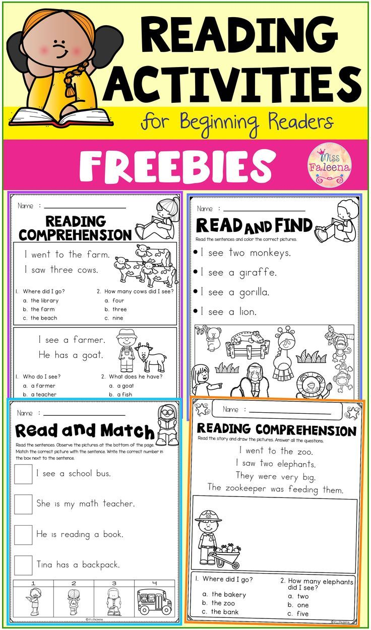 - Free Reading Activities For Beginning Readers Kindergarten