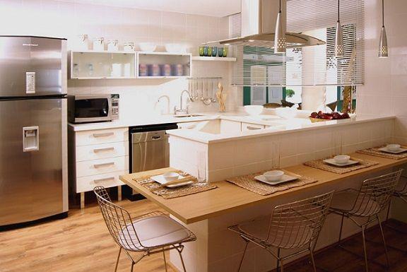 Modelos de Cozinhas Decoradas Tendências 2014Light Blue Kitchen, Cozinha Planejada, Ideas For, Decoration, Home Decor, Cozinha Americana Pequena, Decor Cozinha, Cozinha Decoradas, Cozinha Modernas