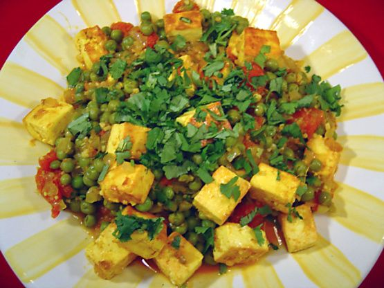 Mattar Paneer - Indian Peas with Paneer Cheese