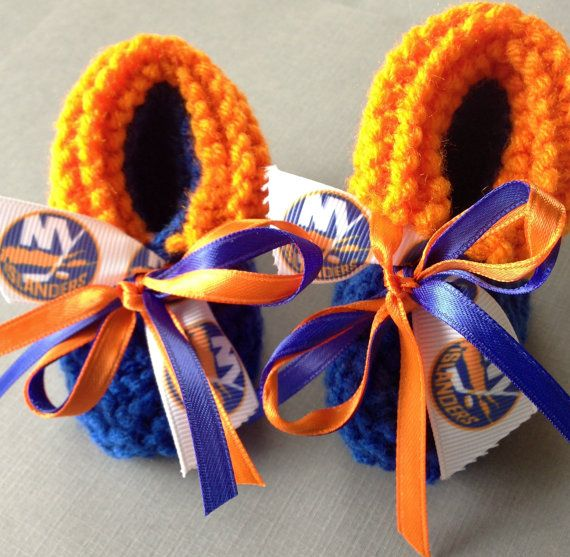 New York ISLANDERS Hockey Fans Handmade Baby by ZZsTeamTime