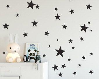 Vinyl Sterne Wandtattoo  Sternen Wand von TheStenciledBarn auf Etsy