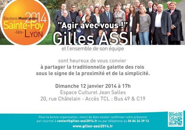 Les voeux de Gilles Assi. Le dimanche 12 janvier 2014 à sainte-foy-les-lyon.  17H00