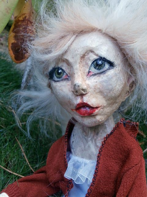 Ooak doll. My first art doll sculpt in paper clay. Wire and clothes skeleton. I <3 the result.
