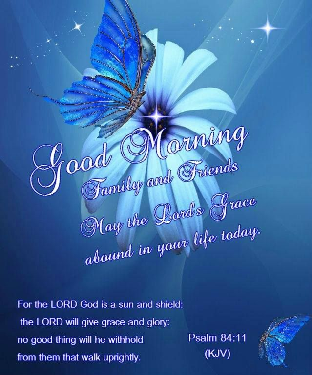 Good morning family and friends! May the Lord's grace