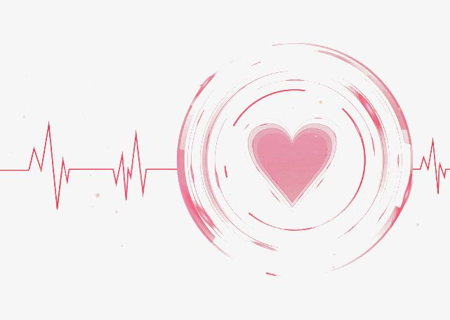 cartoon heartbeat material, Girl Heart, Heart Rate, Pink PNG and PSD