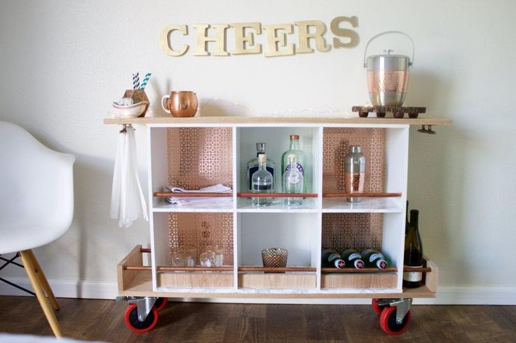 Add some flair to your kitchen with this fun Upcycled Bar Cart DIY! This cart is great for entertaining, plus gives you additional storage space for those items you don't use every day. Click in for the step-by-step tutorial.