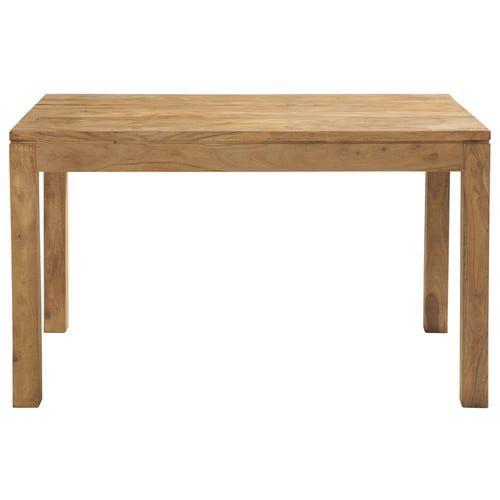 Mesa de comedor de madera de maciza de palo rosa An. 130 cm