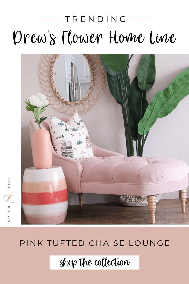 Drew Barrymore Flower Home Line Stylish Petite Tufted Chaise