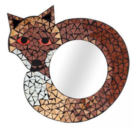 Round Fox Mirror £24 for a 35cm x 35cms