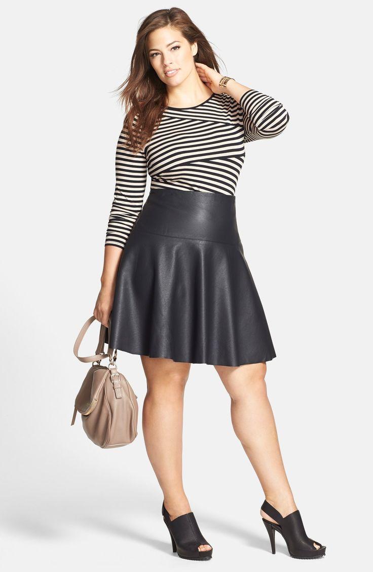 Ashley Graham Fashion Plus Size Long Skirts Plus Size