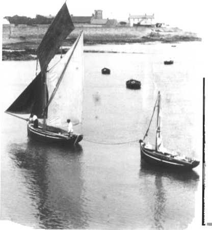 The La Roque boats with their sprit rigged sails