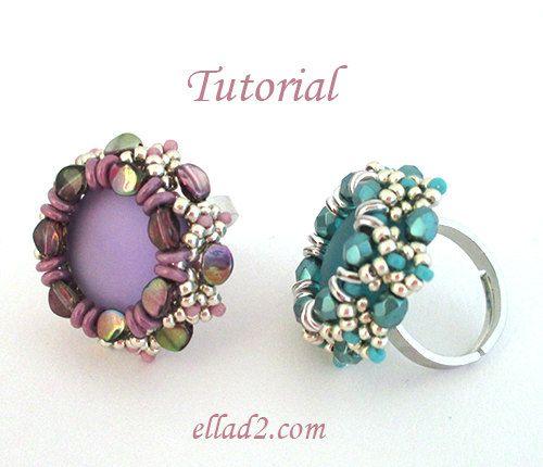 Tutorial Pinch Ring - Beading Tutorial, Beading Pattern, Instant download, PDF, Jewelry Tutorial