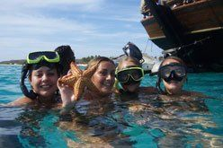 Jolly Pirates Aruba, snorkeling with BBQ and WWII wreck $57 a person! OPEN BAR! and rope swing! must do!