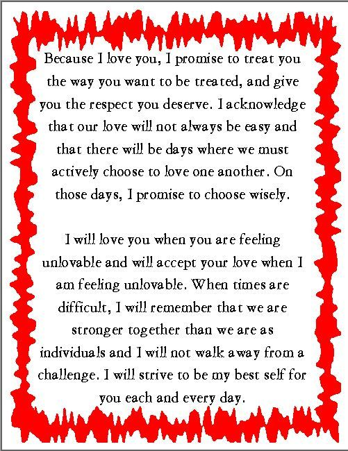 Wedding Vows Wednesday Sample wedding vows for  12/5/13 | Lyssabeth's Wedding Officiants