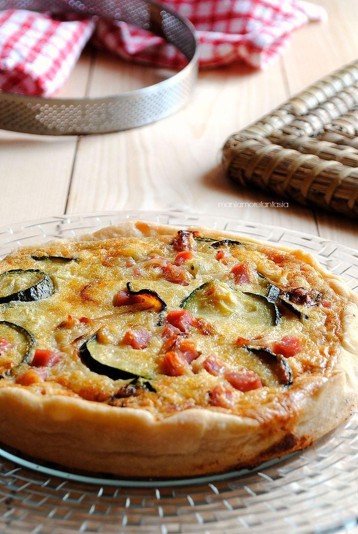 quiche di zucchine e prosciutto all'italiana