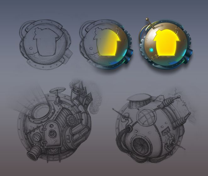 Steampunk icons