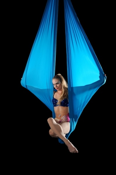 Hammock and Ribbons is one of the prettiest acts in our Great Y Circus Show