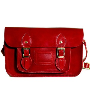 Leather Satchel Bordeaux, £67, now featured on Fab.
